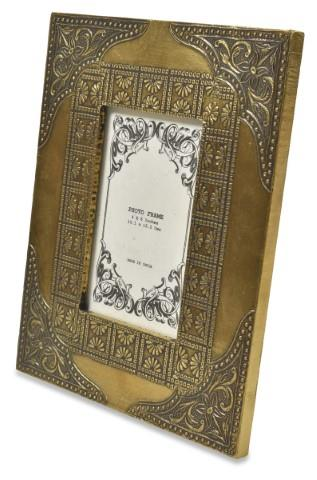 Image of Agra Photo Frame Full Brass Cladded 4x6