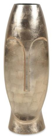 Image of Long Tall Face Vase - Metalic Gold - H50.5cm