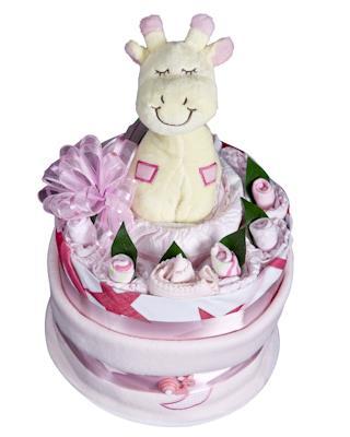 Baby Girl Nappy Cake - Baby Hamper