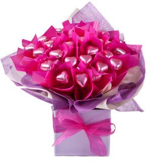 Image of Blushing Bouquet - Mothers Day Chocolate Bouquet