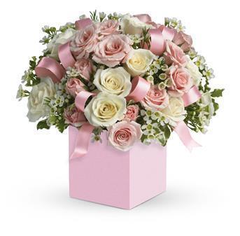Image of Celebrating Baby Girl Flower Arrangement