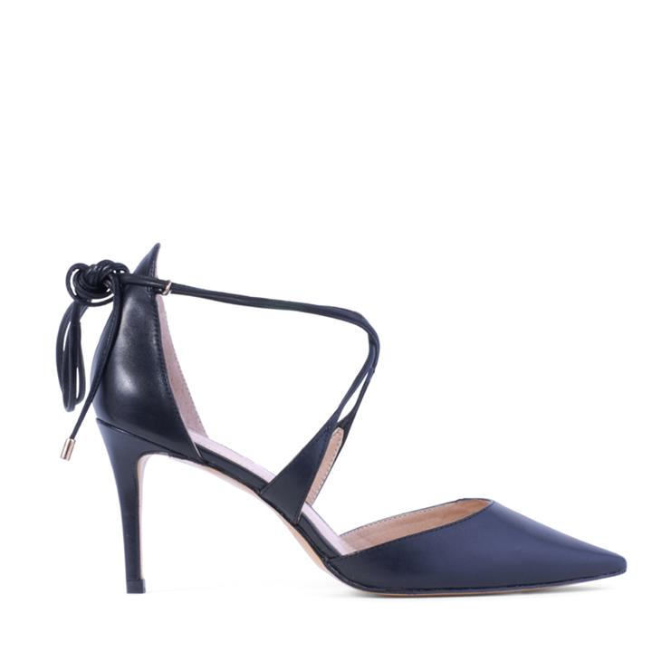 Image of A chic new style to work office or evening. The Coax pointed kitten heel features cross-over front tie that wraps around the ankle.    Fabric Description:    * Upper: Leather * Lining: Synthetic * Heel Height: 8cm    Unleash your inner Siren!