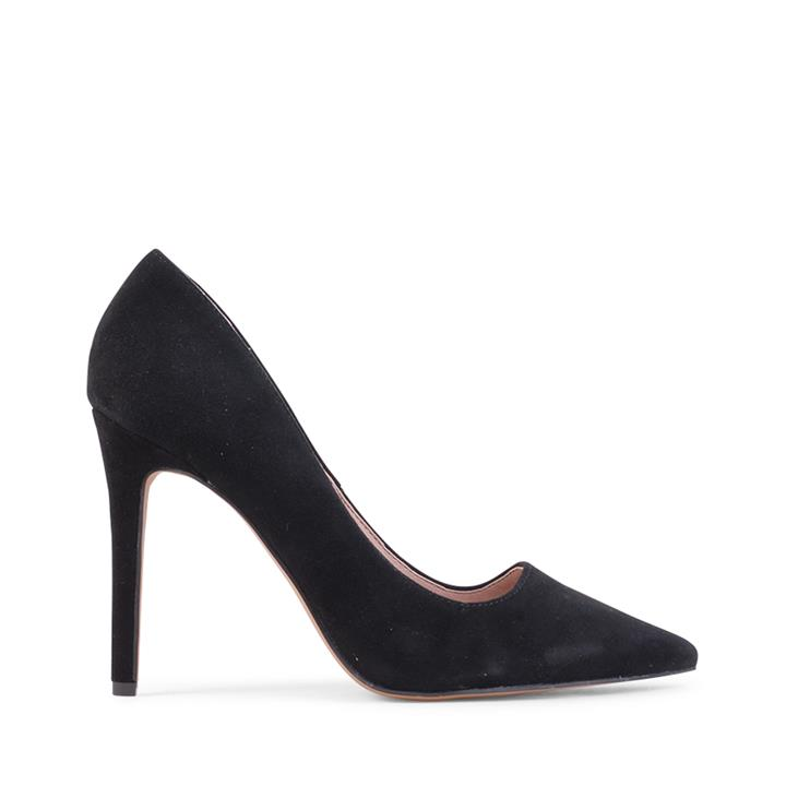 Image of The Besse Court shoe with pointed toe and medium height heel.    Fabric Description:  * Upper: 100% Suede * Lining: Synthetic * Heel Height: 10cm    Unleash your inner Siren!