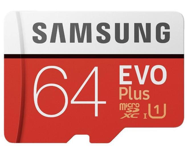 Samsung 64GB Micro SDXC EVO Plus Memory Card