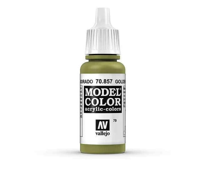 Vallejo Model Colour - Golden Olive 17ml Acrylic Paint (AV70857)