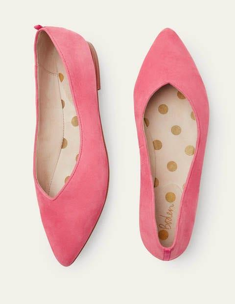 Vintage Shoes, Vintage Style Shoes Julia Pointed Flats Pink Women Boden Pink AUD 160.00 AT vintagedancer.com
