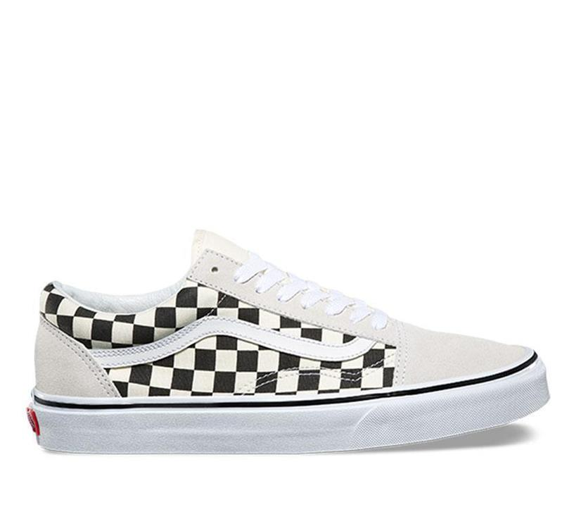 Image of Vans Old Skool Checkerboard (Checkerboard) White Vans designer shoes and fashion