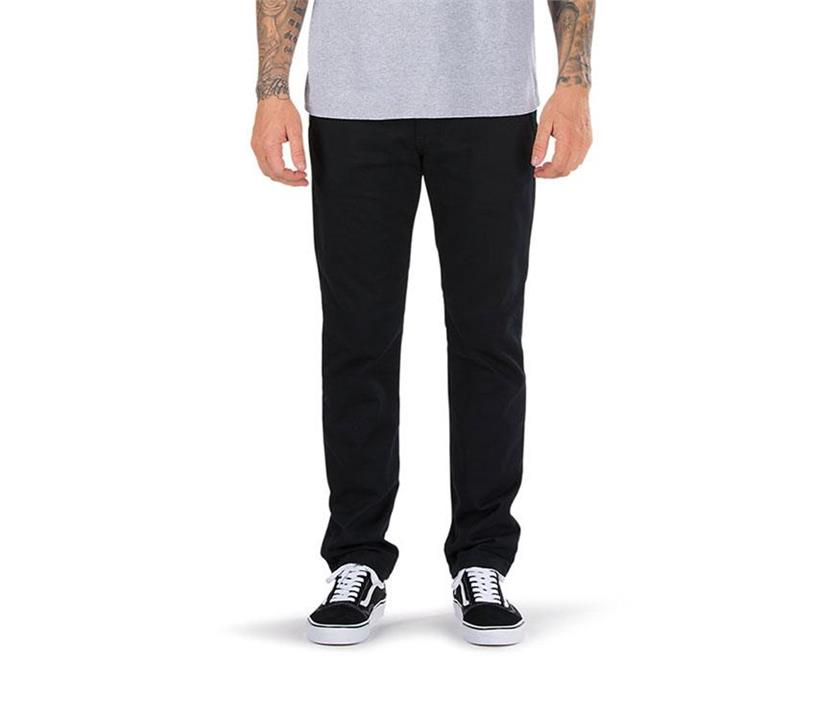 Image of Vans Authentic Chino Stretch Pants Black Vans designer shoes and fashion