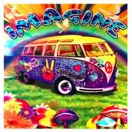 Image of 3D LiveLife Holographic Large Greeting Card - Peace Van