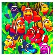 Image of 3D LiveLife Holographic Large Greeting Card - Cute Clownfish