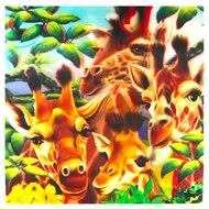 Image of 3D LiveLife Holographic Large Greeting Card - Giraffe Traffic