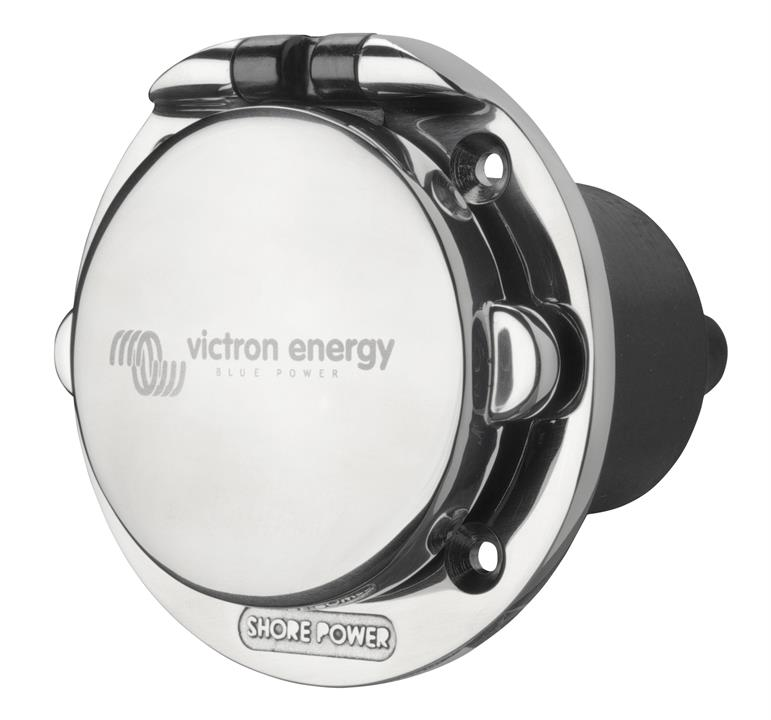 Victron Power Inlet 32A stainless steel with cover