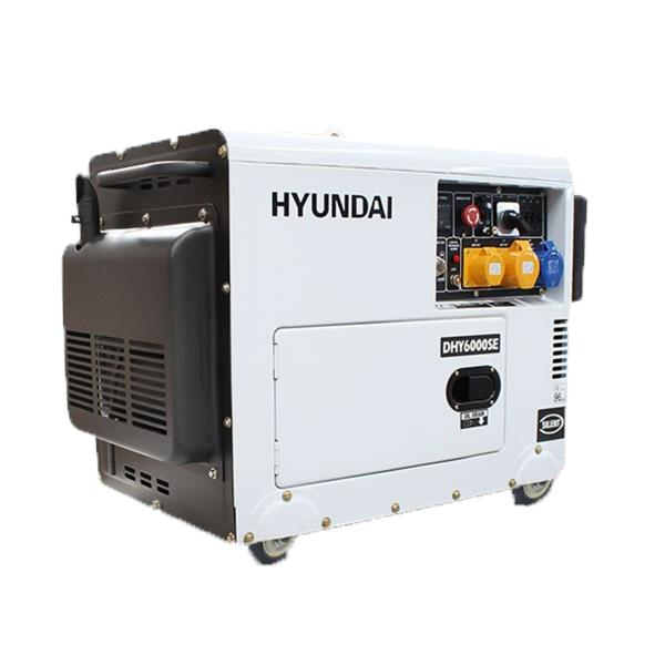 Image of Hyundai 6.5kVA AVR Diesel Portable Generator with 2 Wire Remote Start, 1 Year Warranty