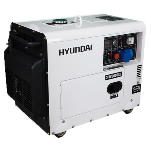 Image of Hyundai DHY8500SERS 8kVA AVR Diesel Portable Generator with 2 Wire Remote Start, 1 Year Warranty