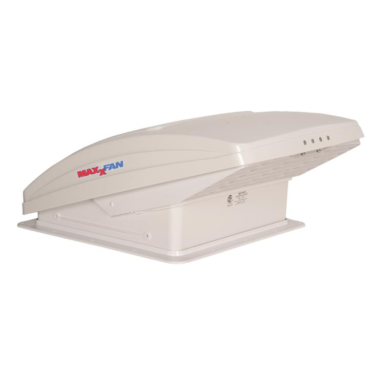 Image of Maxxfan Deluxe with Rain Dome, Thermostat & Manual Lift, 00-05100KI, 1 Year Warranty
