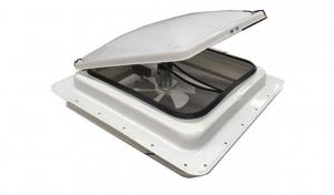 """Image of Finch Australia 14"""" White Dome Hatch with Fan, 12V, 1 Year Warranty"""