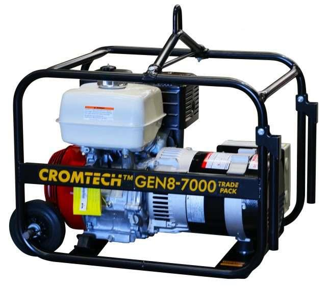 Image of Crommelins Cromtech 6.4kVA Worksite Approved Honda Powered Generator, 2 Year Warranty