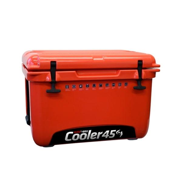 BlackWolf 45 Litre Hardside Icebox Cooler, 1 Year Warranty