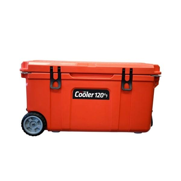 BlackWolf 120 Litre Hardside Rolling Icebox Cooler, 1 Year Warranty