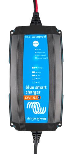 Image of Victron Blue IP65 Smart Charger 12/15 + DC connector, 5 Year Warranty