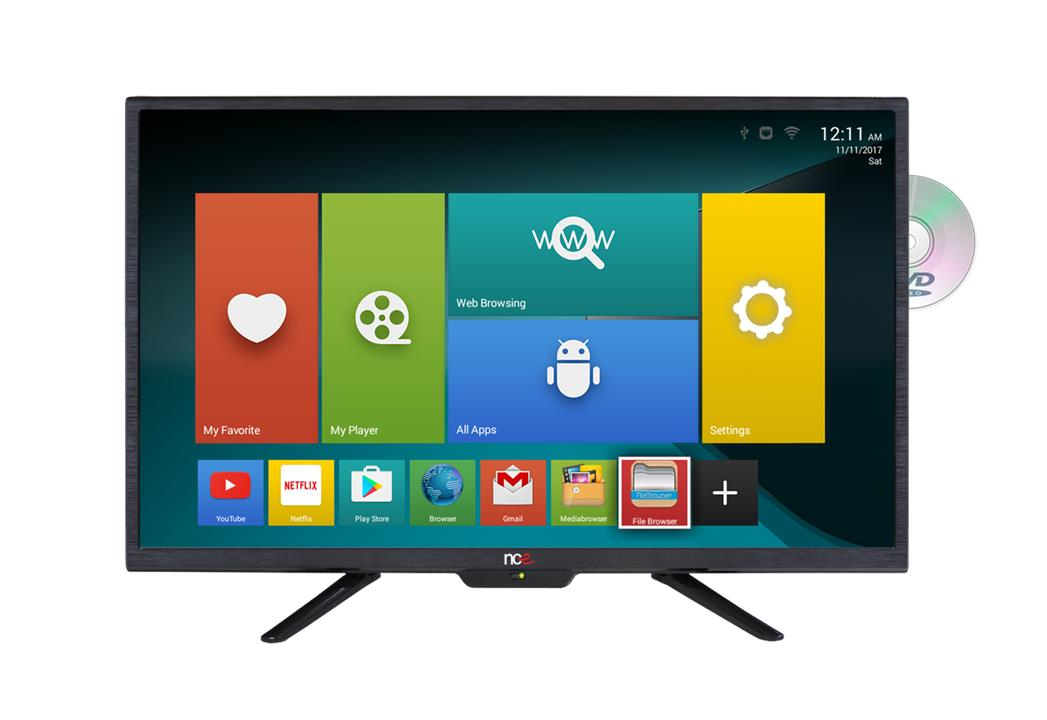 """NCE 24"""" Smart LED LCD TV/DVD Combo 12VDC with Wifi and Bluetooth Connectivity, 1 Year Warranty"""