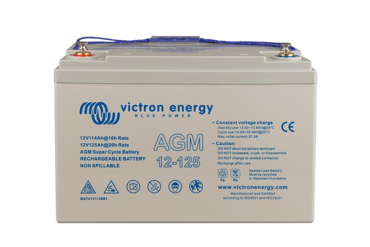 Victron 12V/125Ah AGM Super Cycle Battery, 2 Year Warranty
