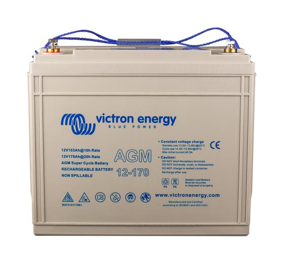 Victron 12V/170Ah AGM Super Cycle Battery, 2 Year Warranty
