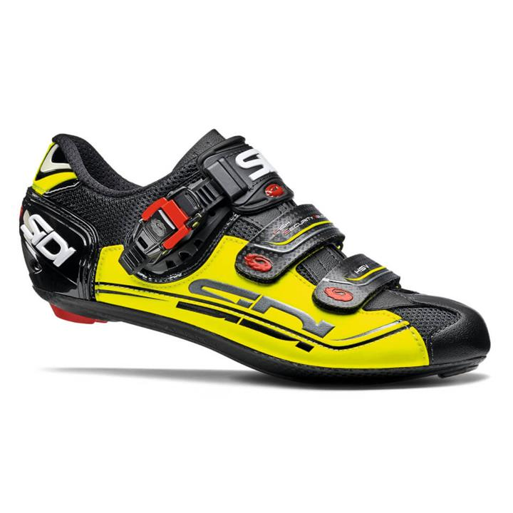 Sidi Genius 7 Road Shoes - Black/Yellow Fluo/Black - EU 38.5 - Black/Yellow Fluo/Black