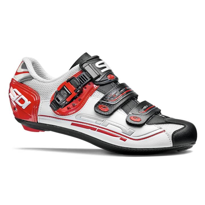 Sidi Genius 7 Road Shoes - White/Black/Red - EU 48 - White/Black/Red