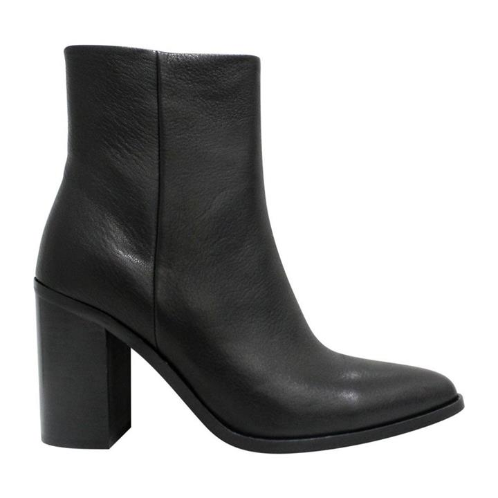 Mollini Beeps Black womens leather ankle boot