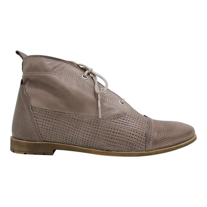 Sala calista taupe womens lace up boot