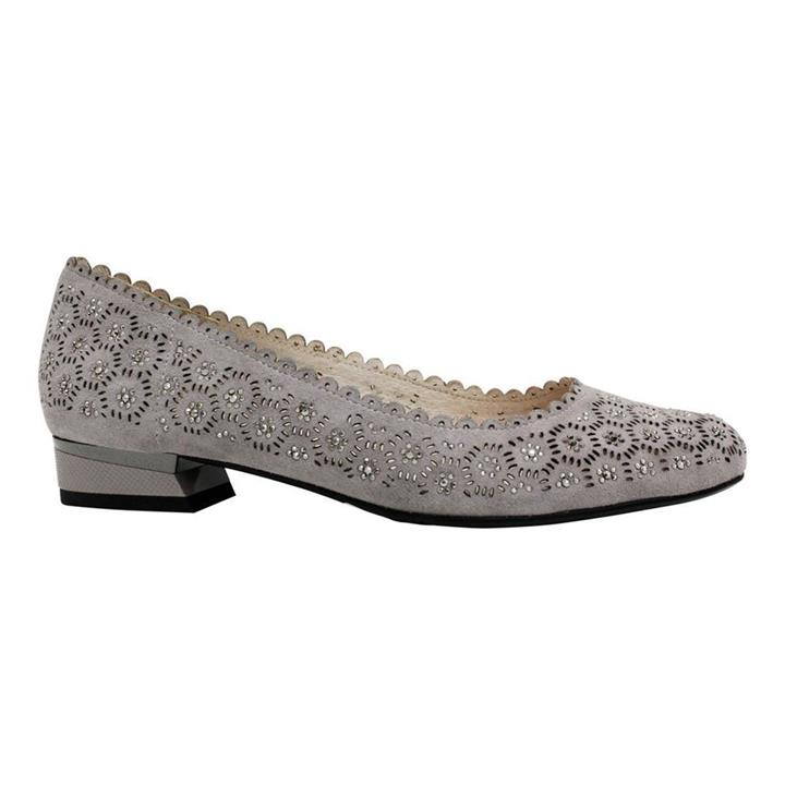 Emma Kate Dance Grey Suede womens flat