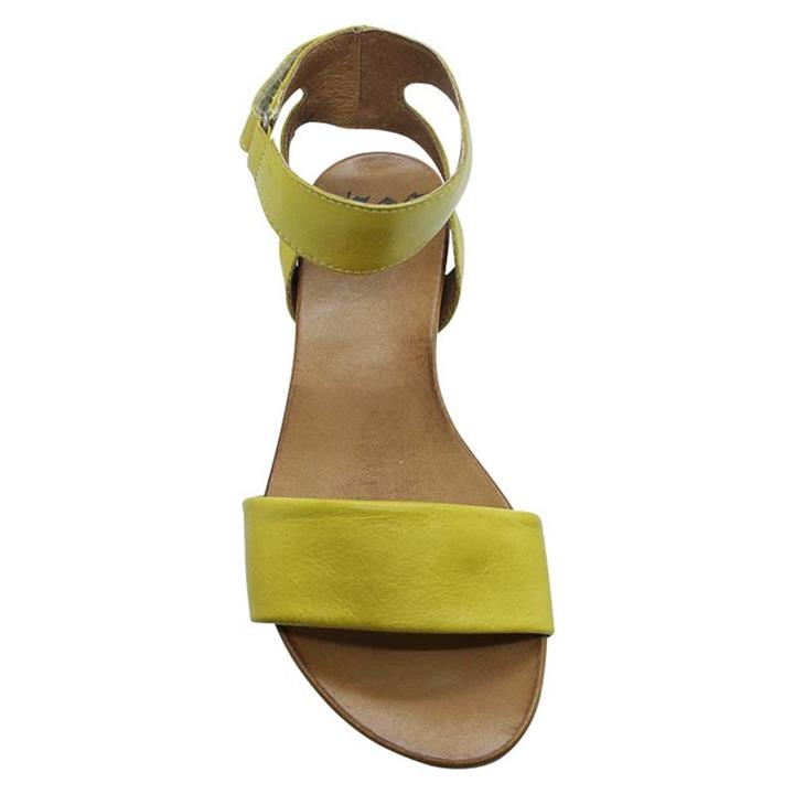 EOS Lauren Yellow womens leather sandals