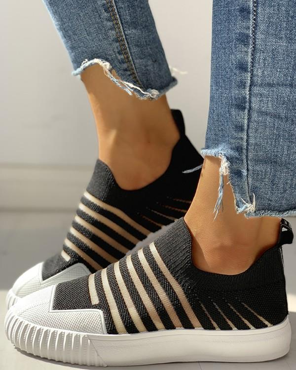 Image of Hollow Out Patchwork Casual Sneakers