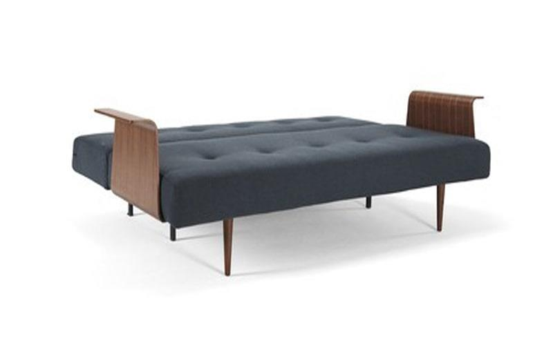 Recast Double Sofa Bed With Walnut Arms - Innovation Living