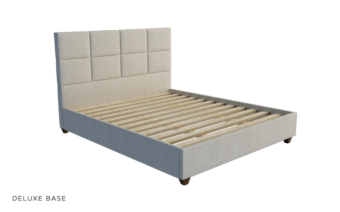 Boxy Custom Upholstered Bed With Choice Of Standard Base