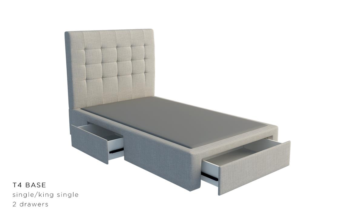 Paris Ii Custom Upholstered Bed With Choice Of Storage Base