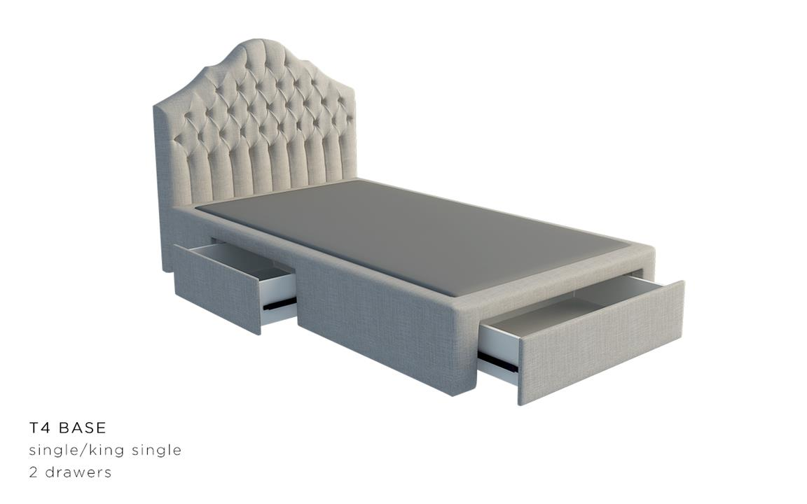 Julia Custom Upholstered Bed Frame With Choice Of Storage Base