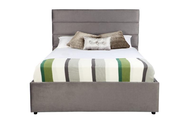 Panelled Horizontal Custom Upholstered Bed With Choice Of Standard Base