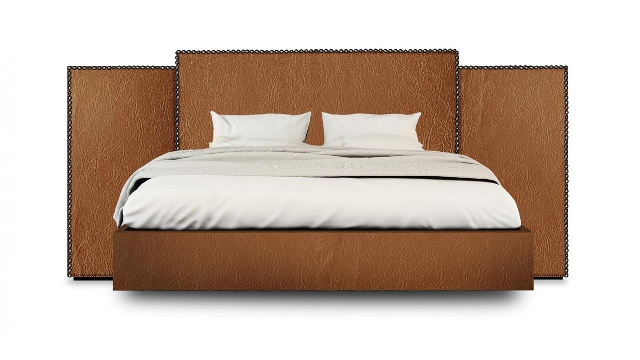 Vintage Custom Upholstered Wide Bed Head