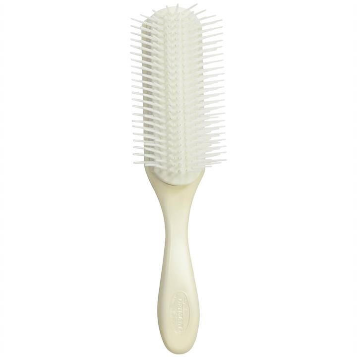 Denman D4 9 Row Large Styling Brush - Pearl/White
