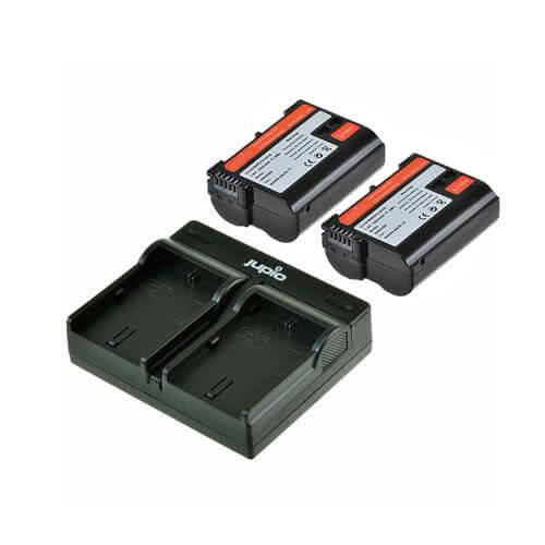 Jupio Dual Batteries and Charger Kit for EN-EL15