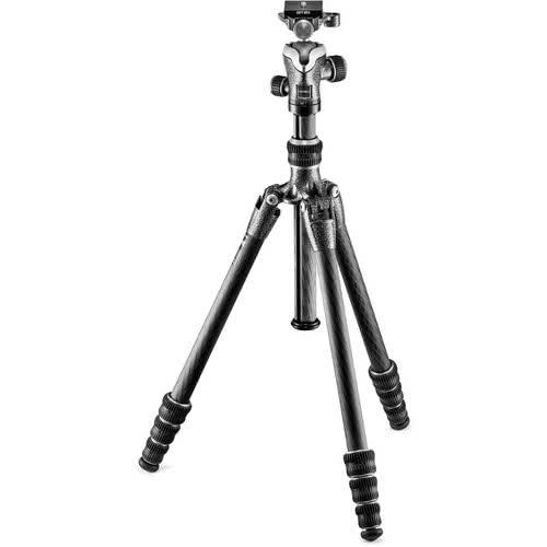 Gitzo Traveler Series 0 Carbon eXact 4 Section Carbon Fiber Tripod with Center Ball Head | cameraPro Australia | Black