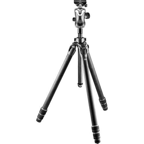 Gitzo Mountaineer Series 3 Carbon eXact 3 Section Carbon Fiber Tripod with Center Ball Head | Black