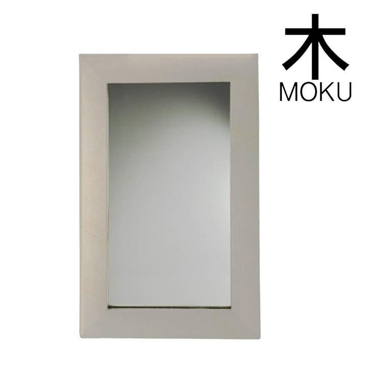Solid Limestone Bathroom Wall Mirror - Matte Stone Finish