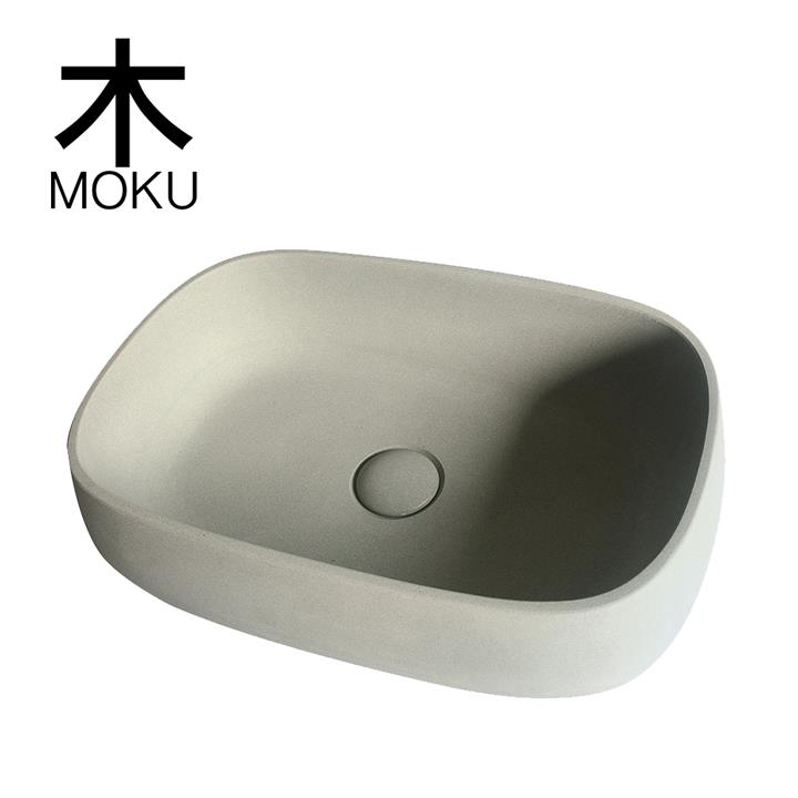 Solid Limestone Rectangle Basin - Matte Stone Finish - Above Counter Top - 500 x 340mm
