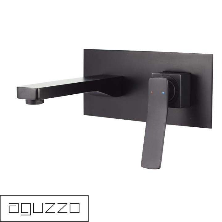 Cortina Wall Mounted Mixer with Spout - Matte Black