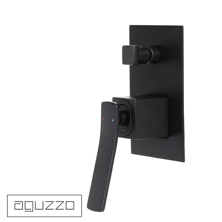 Cortina Wall Mounted Shower Mixer with Diverter - Matte Black