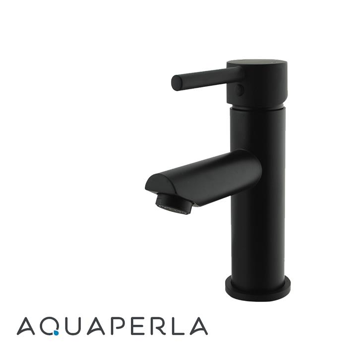 Echo Round Matte Black Basin Mixer