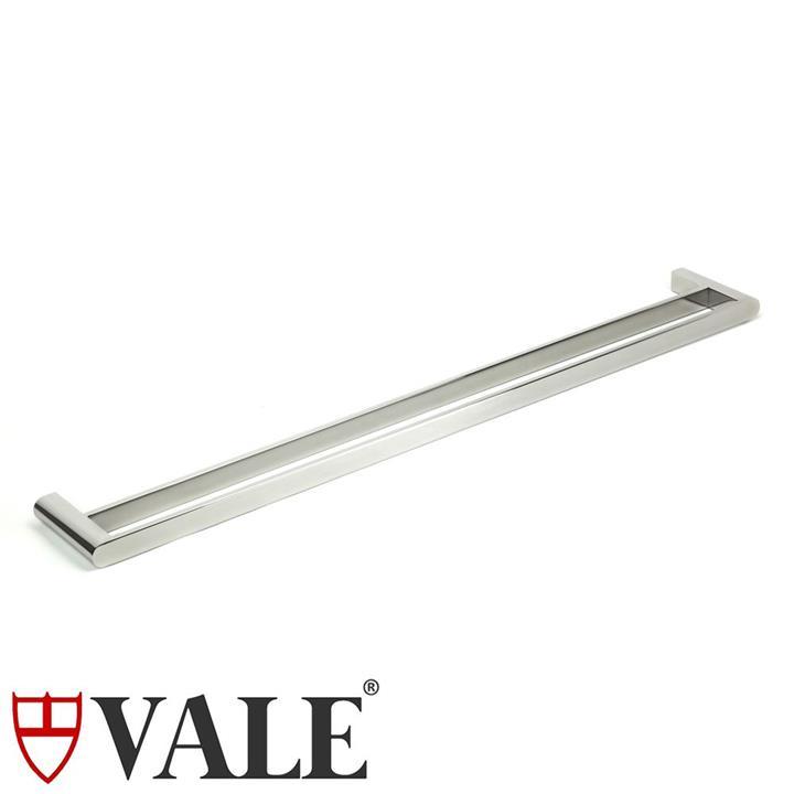 Fluid Stainless Steel Double Towel Rail (900mm)